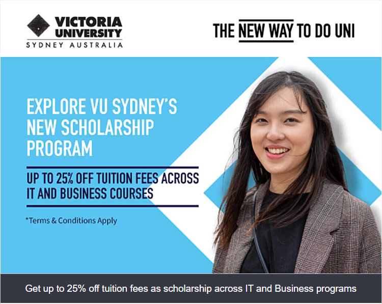 Scholarship offered by Victoria University, Sydney Campus, Australia | by  Admivo International Education Consulting | Medium